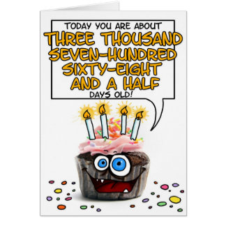 Happy Birthday Cupcake - 10 years old Card