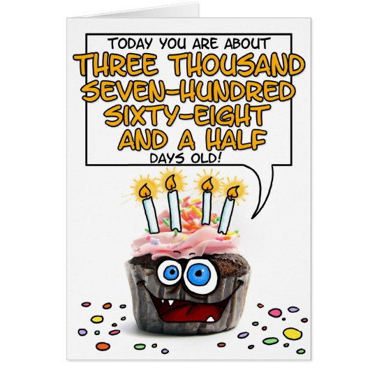 Happy Birthday Cupcake - 10 years old Card