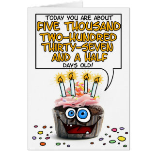 Happy Birthday Cupcake - 14 years old Greeting Card