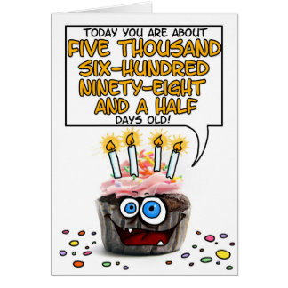 Happy Birthday Cupcake - 15 years old Card