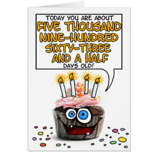 Happy Birthday Cupcake - 16 years old Greeting Card