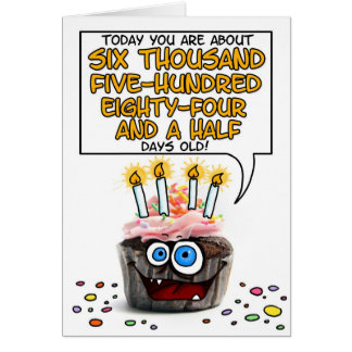 Happy Birthday Cupcake - 18 years old Greeting Card