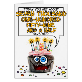 Happy Birthday Cupcake - 19 years old Greeting Card