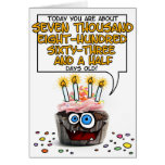 Happy Birthday Cupcake - 21 years old Greeting Card