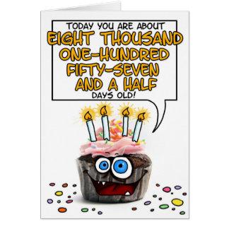 Happy Birthday Cupcake - 22 years old Card