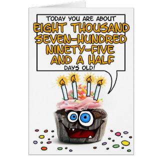 Happy Birthday Cupcake - 24 years old Greeting Cards