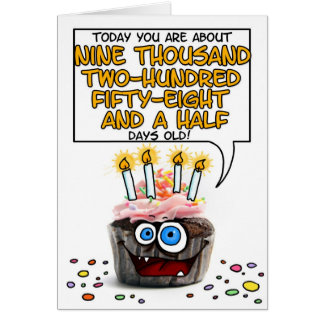 Happy Birthday Cupcake - 25 years old Greeting Card