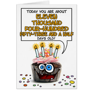 Happy Birthday Cupcake - 31 years old Greeting Card