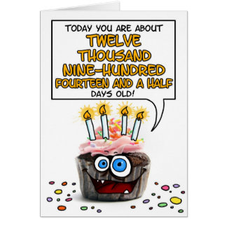 Happy Birthday Cupcake - 35 years old Greeting Card