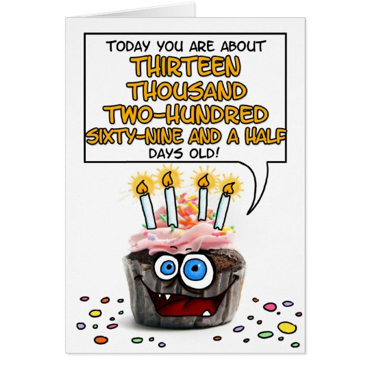 Happy Birthday Cupcake - 36 years old Card