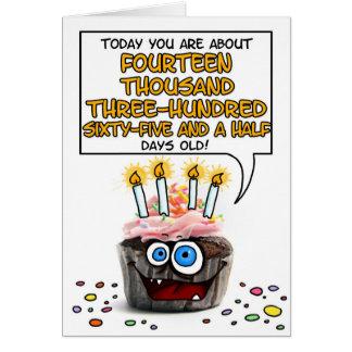Happy Birthday Cupcake - 39 years old Greeting Card
