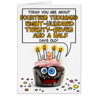 Happy Birthday Cupcake - 40 years old Greeting Card