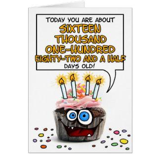 Happy Birthday Cupcake - 44 years old Card