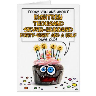 Happy Birthday Cupcake - 51 years old Card