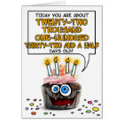 Happy Birthday Cupcake - 60 years old Card