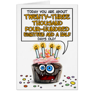 Happy Birthday Cupcake - 64 years old Card
