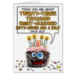 Happy Birthday Cupcake - 65 years old Greeting Card