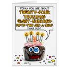 Happy Birthday Cupcake - 67 years old Card