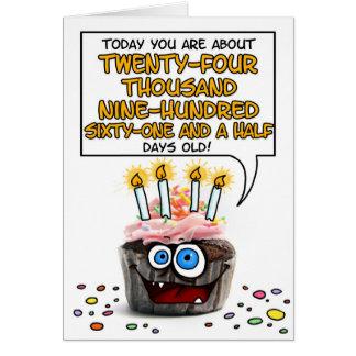 Happy Birthday Cupcake - 68 years old Greeting Card