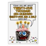 Happy Birthday Cupcake - 70 years old Greeting Card