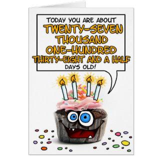 Happy Birthday Cupcake - 74 years old Greeting Card
