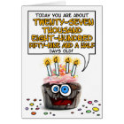 Happy Birthday Cupcake - 76 years old Card