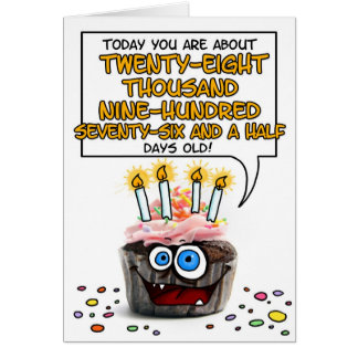 Happy Birthday Cupcake - 79 years old Greeting Card