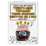 Happy Birthday Cupcake - 80 years old Greeting Card