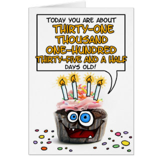 Happy Birthday Cupcake - 85 years old Greeting Card