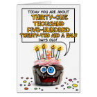 Happy Birthday Cupcake - 86 years old Card