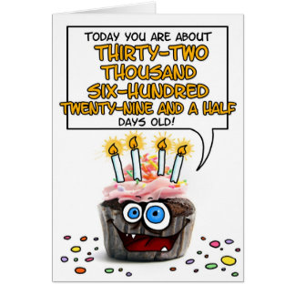 Happy Birthday Cupcake - 89 years old Card