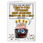 Happy Birthday Cupcake - 90 years old Card