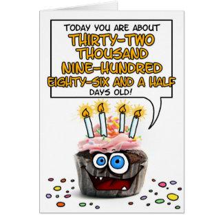 Happy Birthday Cupcake - 90 years old Greeting Card