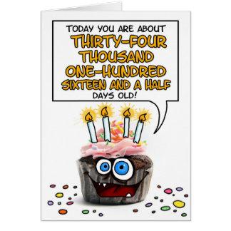 Happy Birthday Cupcake - 93 years old Greeting Card