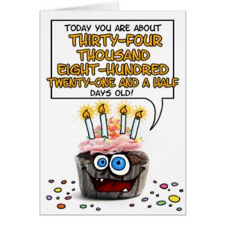 Happy Birthday Cupcake - 95 years old Greeting Card