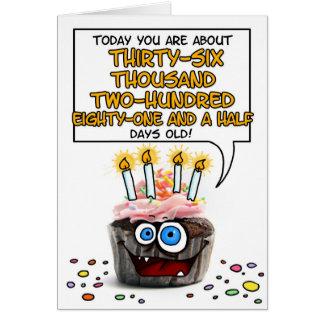 Happy Birthday Cupcake - 99 years old Greeting Card