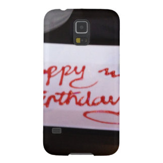 Happy birthday cupcake galaxy s5 covers