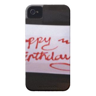 Happy birthday cupcake iPhone 4 case