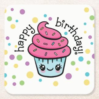 Happy Birthday Cupcake coasters