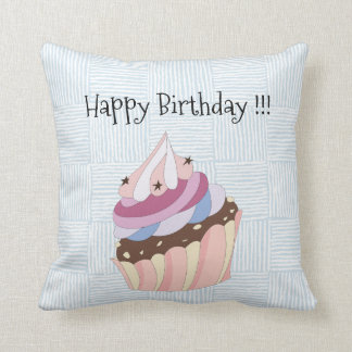 Happy Birthday Cupcake Cushion