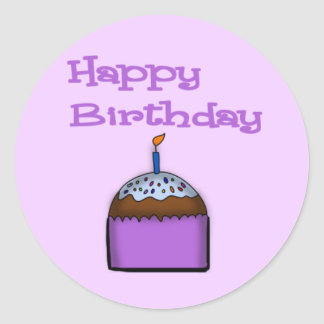 Happy Birthday Cupcake Sticker