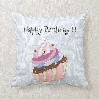 Happy Birthday Cupcake Throw Pillow