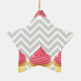 Happy Birthday Cupcakes Christmas Ornament