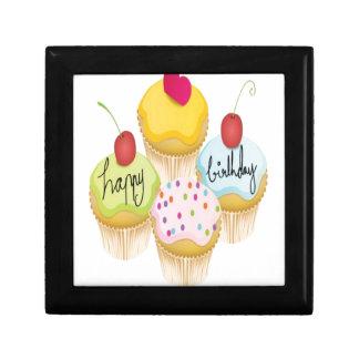 Happy birthday cupcakes design gift boxes