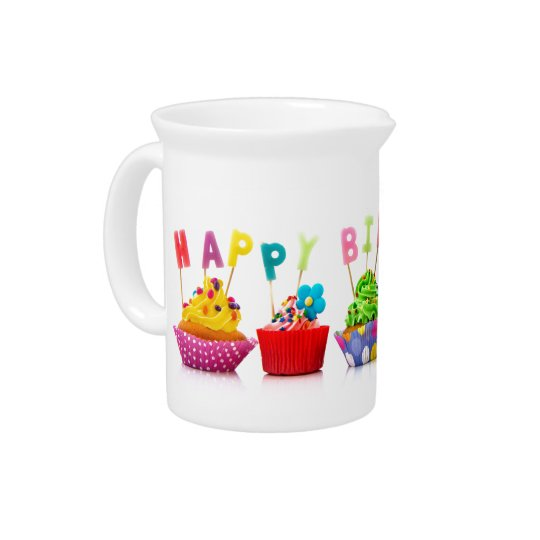 Happy Birthday Cupcakes - Pitcher