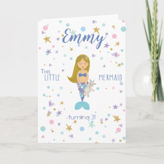 Happy Birthday Custom Little Mermaid Invitation