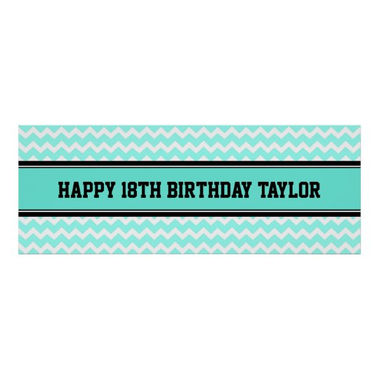 Happy Birthday Custom Year Name Banner Poster