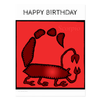 Happy Birthday Custom Zodiac Sign Scorpio Postcard