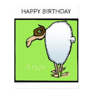 Happy Birthday Custom Zodiac Signs Aries Postcard
