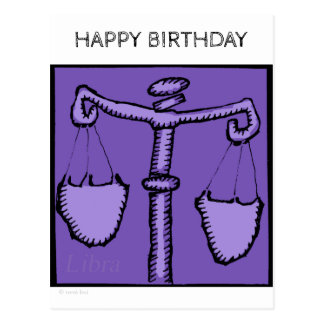 Happy Birthday Custom Zodiac Signs Libra Postcard
